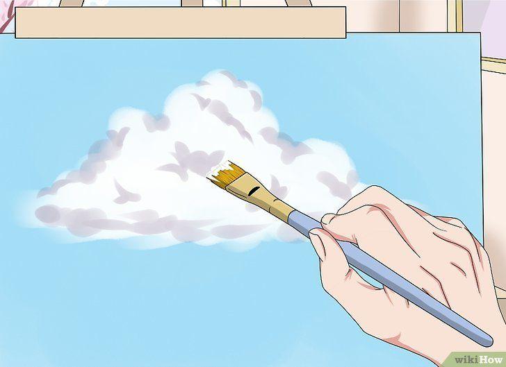 Gambar Mewarna Dengan Crayon Terbaik 3 Cara Untuk Melukis Awan Wikihow