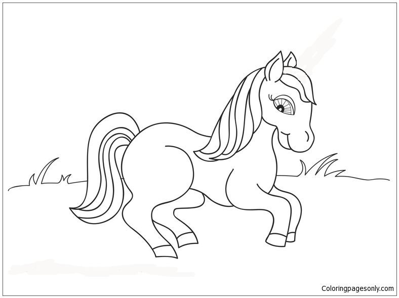 fancy horse coloring page