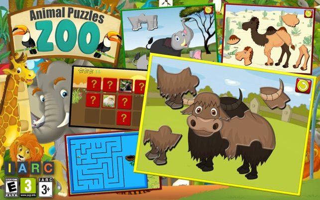 kanak kanak zoo haiwan bentuk jigsaw puzzle permainan prasekolah