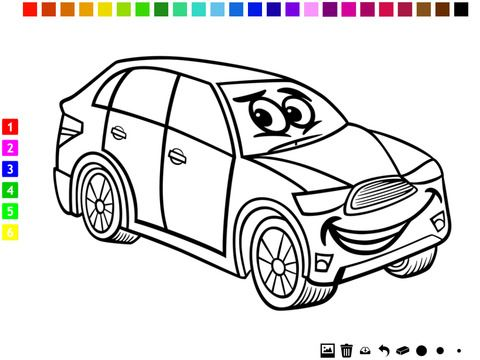 Gambar Mewarna Kanak-kanak Bernilai A Cars Coloring Book for Boys Learn to Color Pictures Of Vehicles