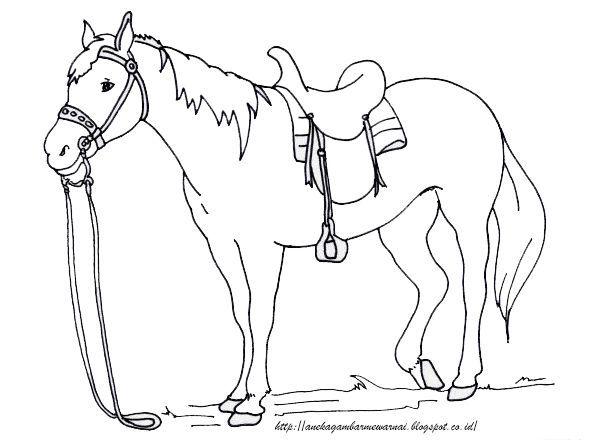 aneka gambar mewarnai gambar mewarnai kuda untuk anak paud dan tk pelajaran menggambar dan mewa