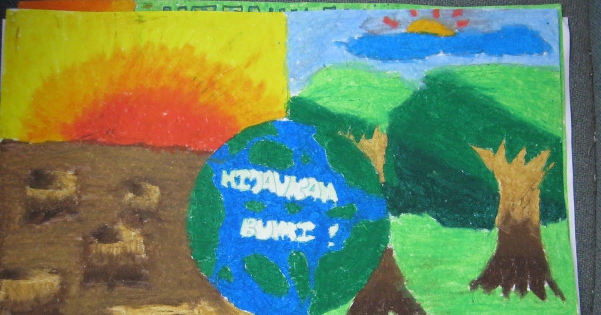 sk taman kepong pertandingan mewarna melukis poster sempena rakan alam sekitar
