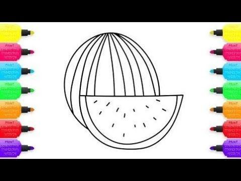 buku mewarna kanak kanak terbaik cara menggambar buah tembikai buah pewarna lagu kanak kanak