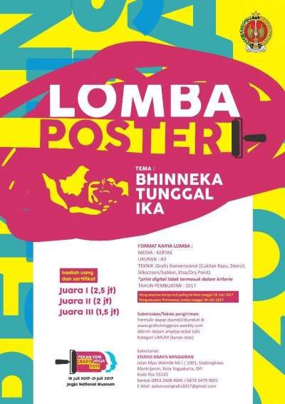 Gambar Poster Tentang Lingkungan Menarik Lomba Poster Dengan Tema Bhinneka Tunggal Ika Yogya Gudegnet