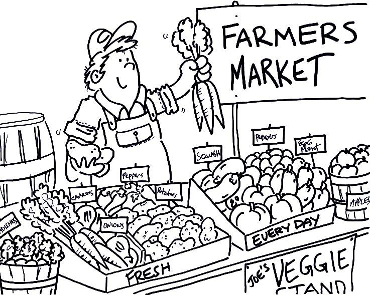 gambar poster untuk mewarna hebat bapak penjual sayur di pasar mewarna gambar mewarna com