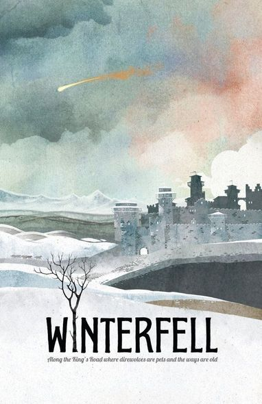 game of thrones poster winterfell travel poster game of thrones gift game of thrones art hous