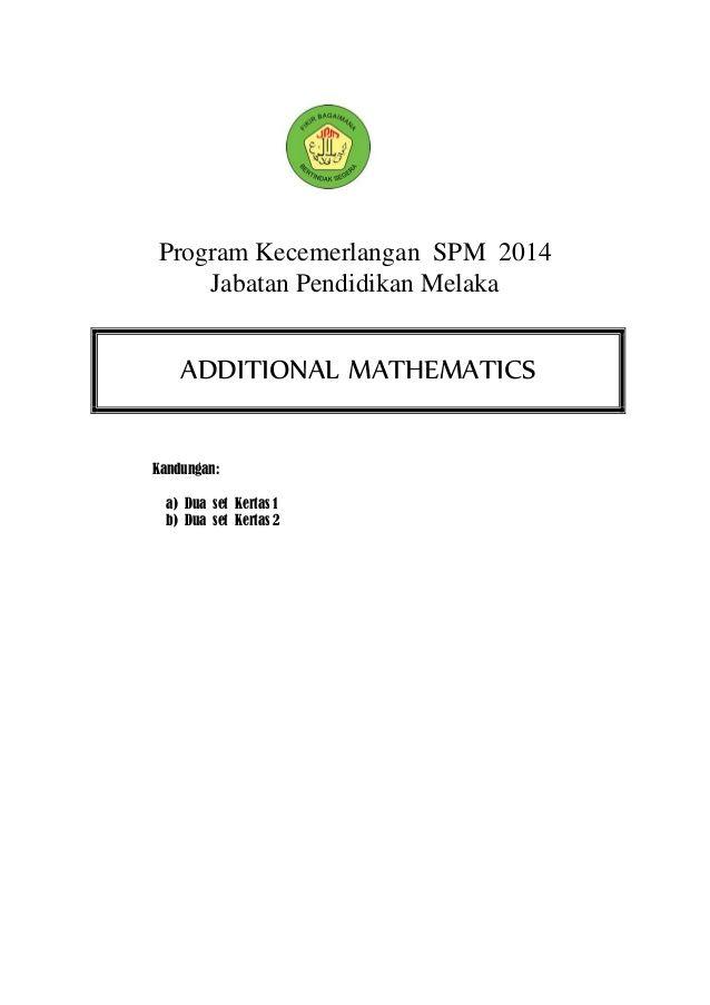 Harga Kertas Lukisan A3 Hebat Add Math Spm 2014 Modul Melaka Gemilang