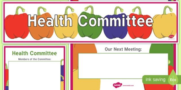 health committee display banner and poster