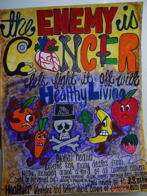 salah satu contoh poster keren dengan tema kesehatan kamu bisa jadikan poster tersebut sebagai referensi
