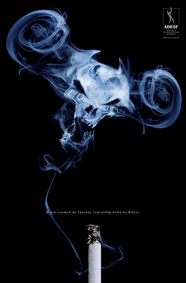 33 gambar kreatif iklan anti rokok