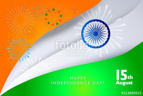 vector happy independence day 15th of august india holiday poster indian flag color fireworks confetti event festival invitation