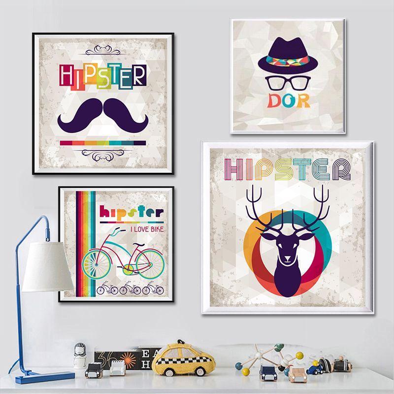 kanvas lukisan gaun hipster up sepeda art kanvas cetak gambar lukisan poster dinding antik retro minimalis