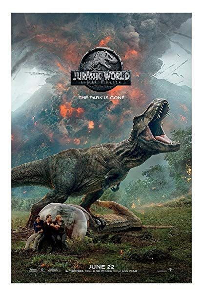 jurassic world fallen kingdom movie poster size 24 quot x 36 quot this is