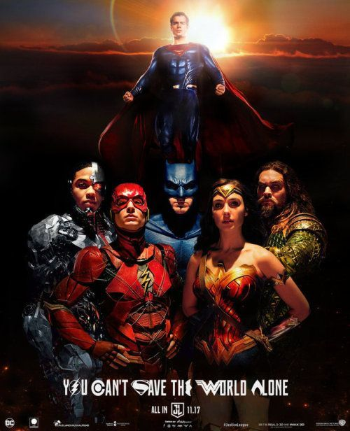 Justice League Poster Berguna Justice League You Cant Save the World Alone Artwork by Geek
