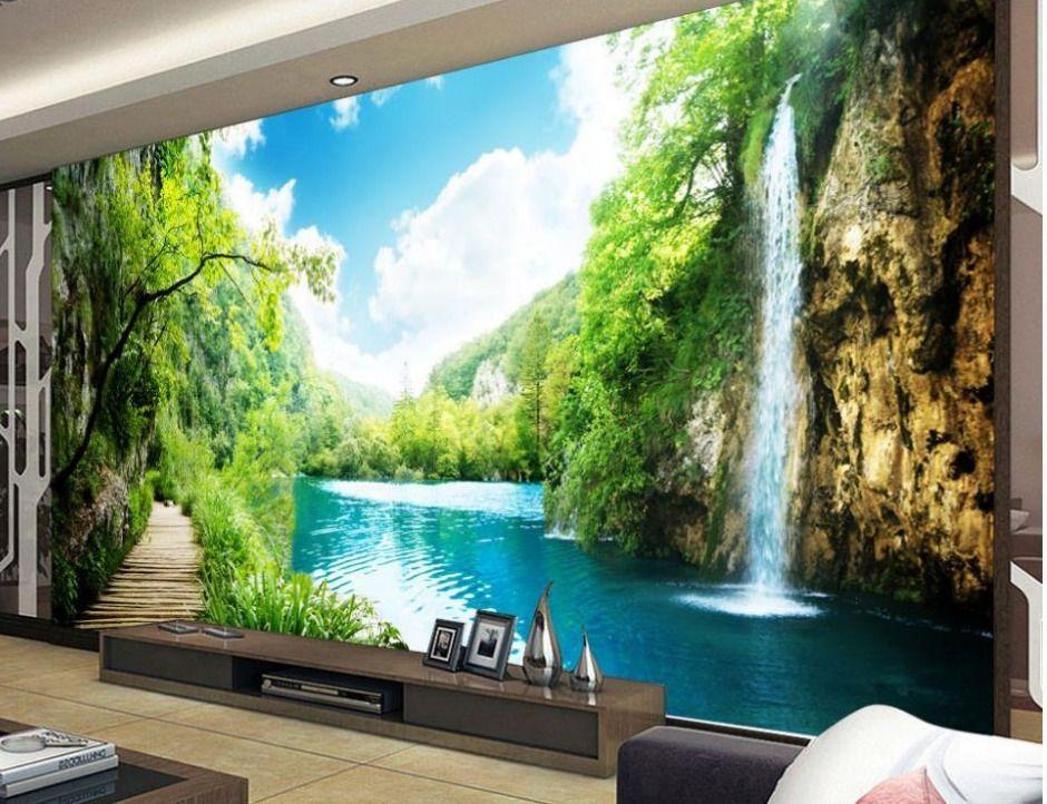 contoh kertas kerja lukisan mural meletup naokustom 3d mural wallpaper indah romantis gunung landscape lukisan