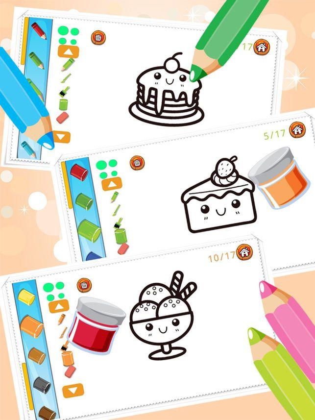 kek gula gula colorbook pendidikan mewarnai permainan untuk kanak kanak kanak kanak di app store