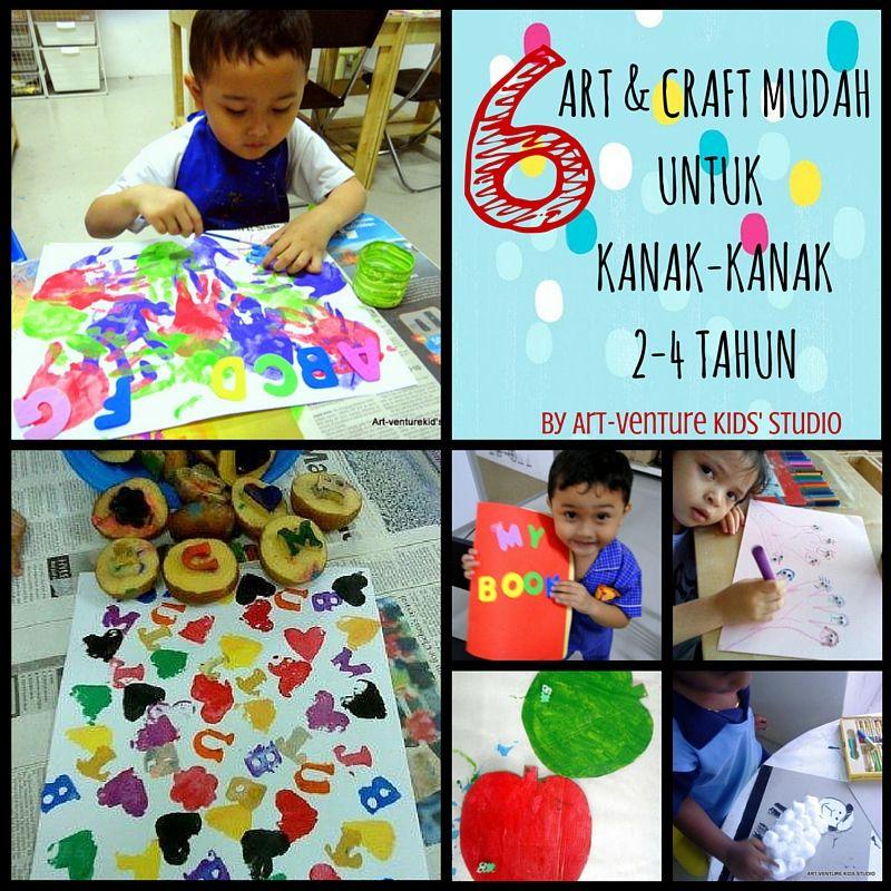 6 aktiviti art craft mudah untuk bayi