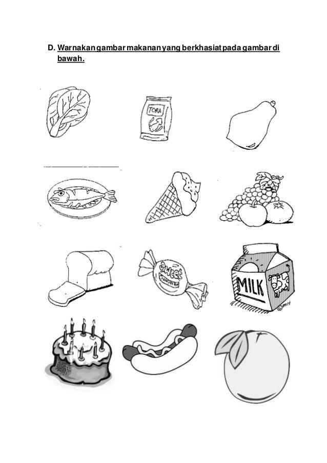 Kertas Mewarna Makanan Berkhasiat Baik Kumpulan Peperiksaan Akhir Tahun Pendidikan Kesihatan Tahun 5 Yang