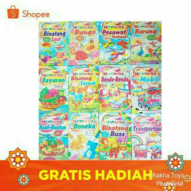 Kertas Mewarna Rama-rama Berguna Buku Aktivitas Mewarnain Full Color Shopee Indonesia