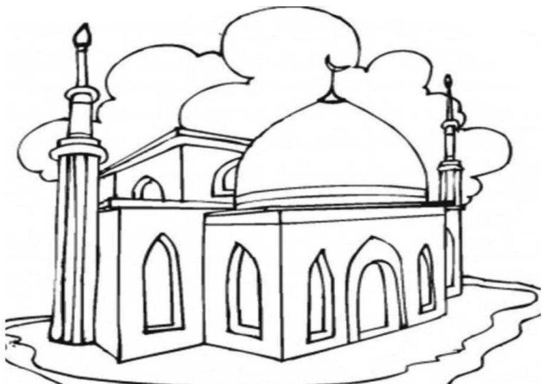 gambar mewarna rukun islam hebat mewarnai gambar mewarnai pinterest ramadan mosque dan