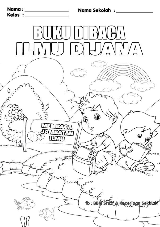 poster mewarna km1m gambar mewarna bulan pss nilam