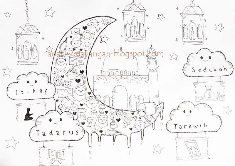 anak kesayangan gambar mewarnai tema ramadhan dan syawal bebas unduh