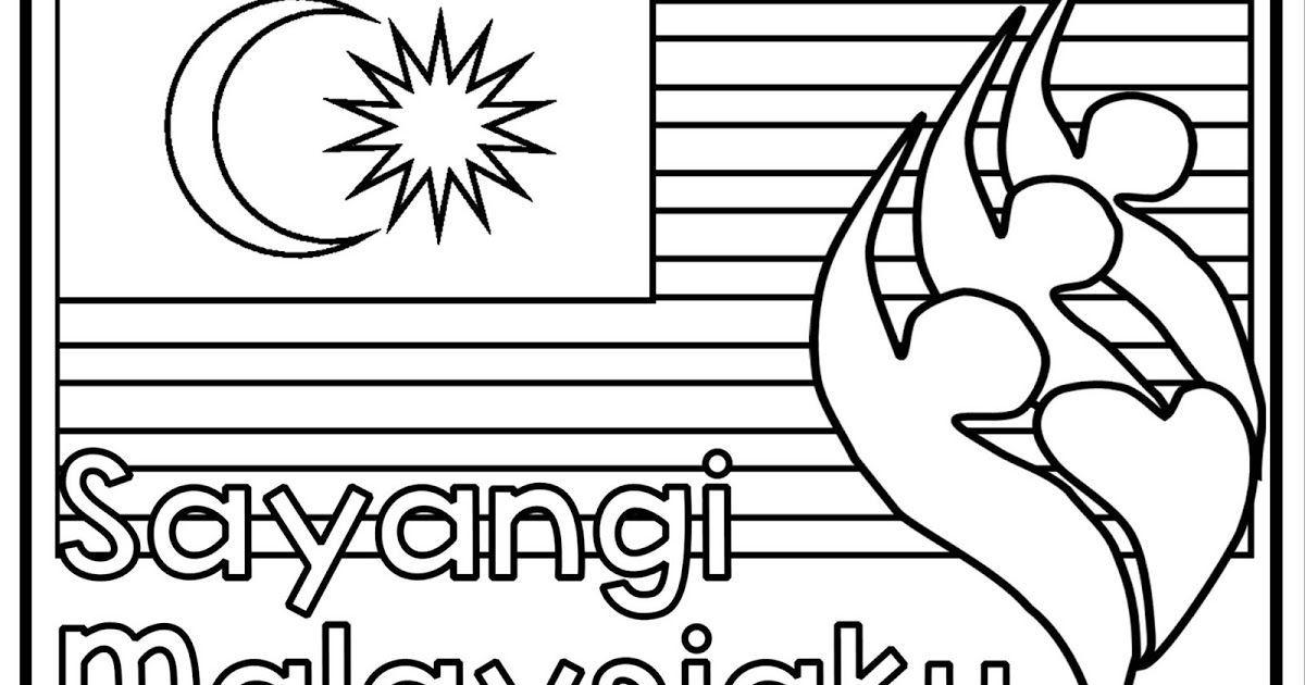 gambar mewarna hari kemerdekaan 2018 sayangi malaysiaku menarik teacherfiera com colouring sheets malaysia independence day 2018