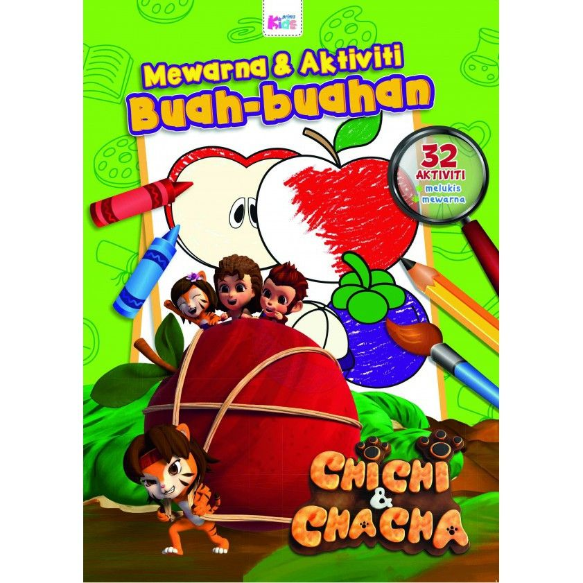 primakids mewarna aktiviti buah buahan chichi chacha shopee malaysia