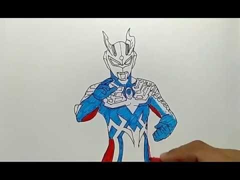 Kertas Mewarna Ultraman Bernilai Cara Menggambar Ultraman Zero Dengan Mudah Youtube