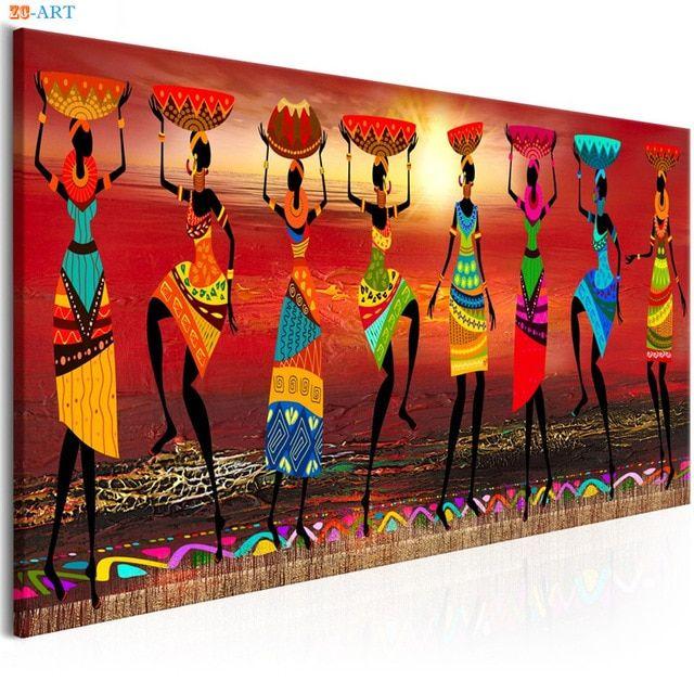 Kodiak Poster Terhebat African Women Dancing Print Colored Poster Canvas Painting Tribal