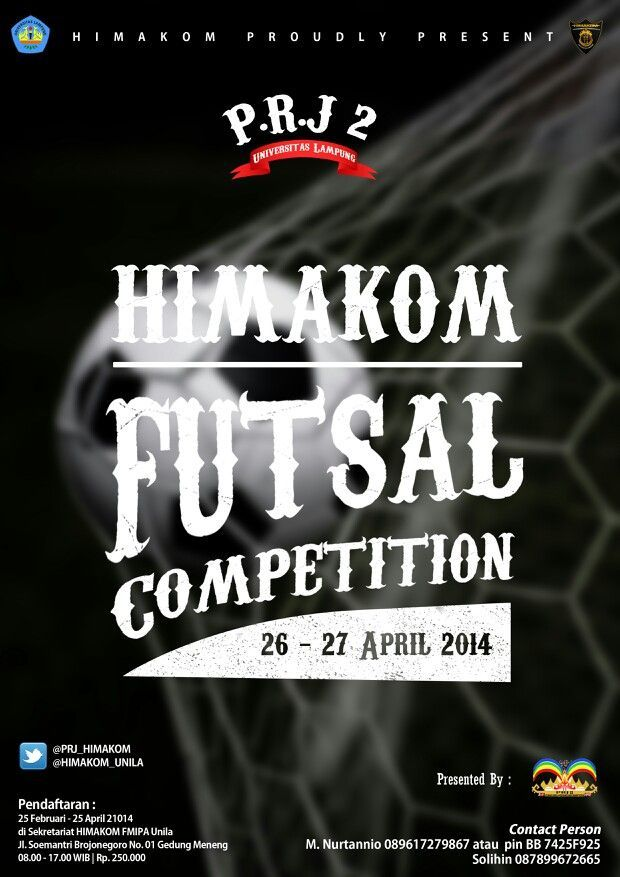 poster futsal competition for prj computer science of lampung university 2014