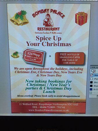 Lomba Poster Terhebat Xmas Day Lunch Menu Picture Of Bombay Palace Restaurant