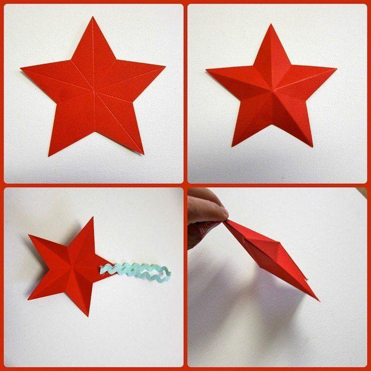 Lukisan 3d Di Kertas Yang Mudah Meletup Buat Kertas Dilipat Bintang Krismas Dalam 3d