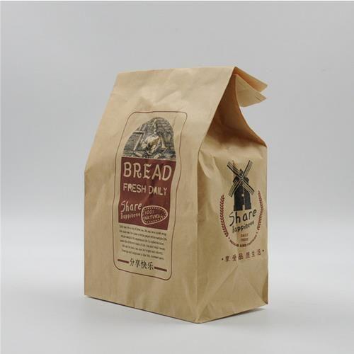 beg kertas dengan tetingkap untuk pembungkusan makanan