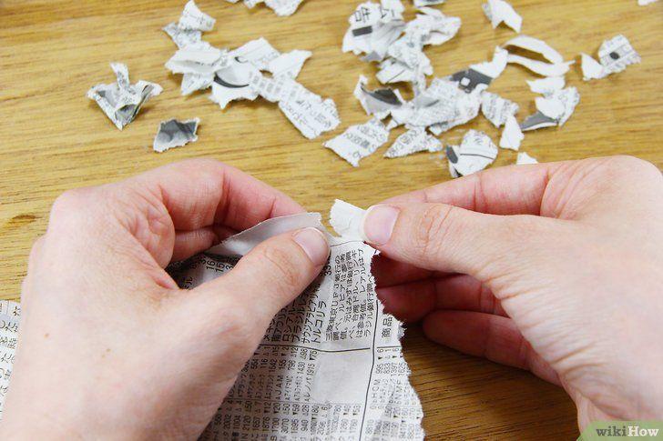 Lukisan Bubur Kertas Power 3 Cara Untuk Membuat Kertas Daur Ulang Dari Kertas Bekas Wikihow