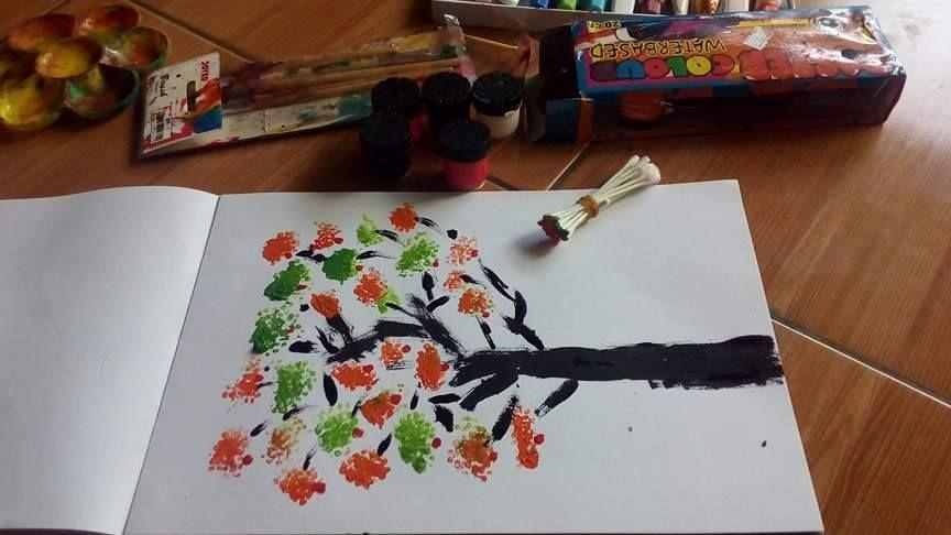 lukisan dari cottonbud