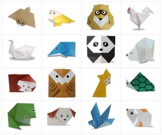 cara melipat kertas origami hewan