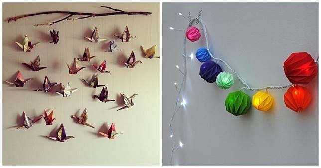 Lukisan Dari Kertas origami Terhebat Berbekal Rp 50 Ribu Hias Kamar Kos Dengan Kertas origami