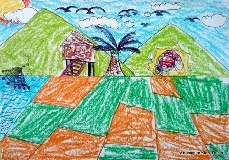 Lukisan Pensil 3d Di Kertas Bernilai Lukisan Kanak Kanak Art Venture Kids Studio
