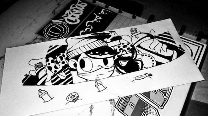 cara menggambar grafiti