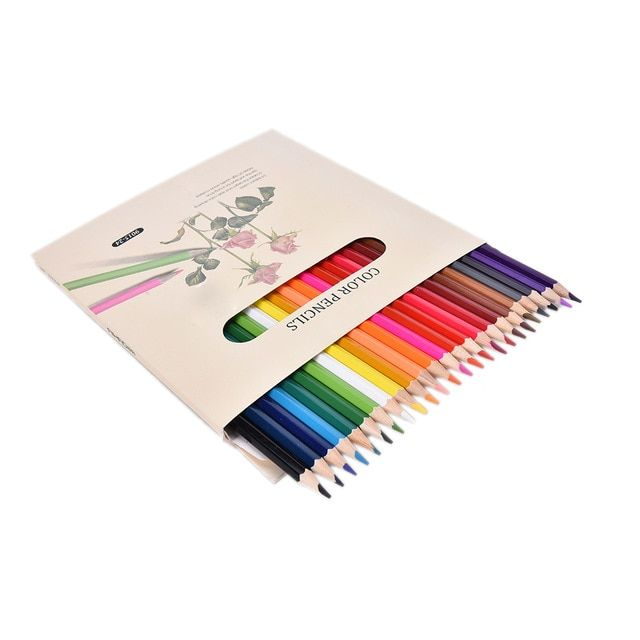 Lukisan Pensil 3d Di Kertas Power 12 Pcs 12 Warna Colorful Pensil Menggambar Lukisan Kotak Permen
