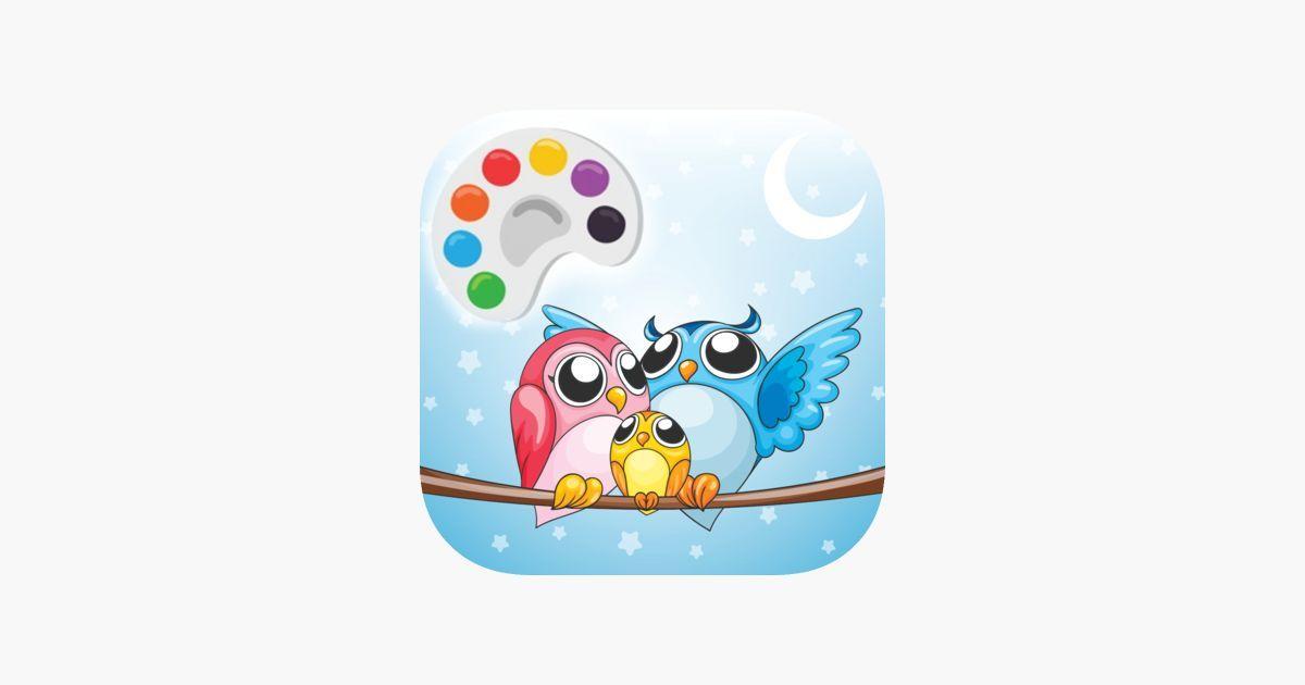 lukisan untuk mewarna penting lukisan laman cute owl mewarna untuk kanak kanak di app store of