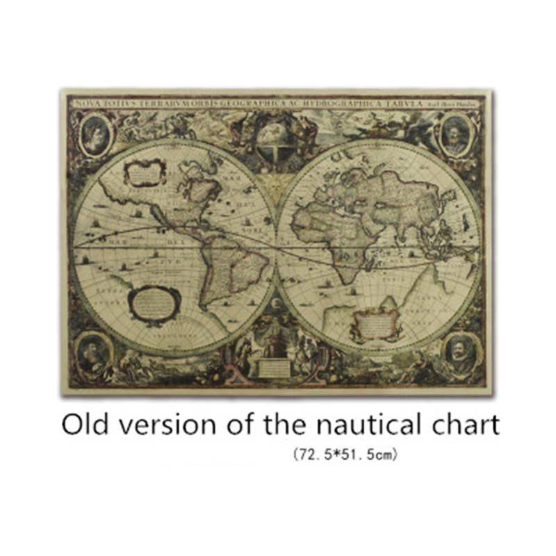 Malaysia Poster Terbaik 71x50cm Vintage Globe Old World Map Matte Brown Paper Poster Home Wall Decor