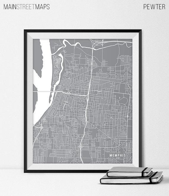Memphis Poster Berguna Memphis Map Art