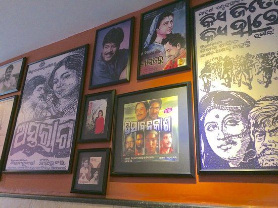 dalma wall displaying odia movie posters and photos