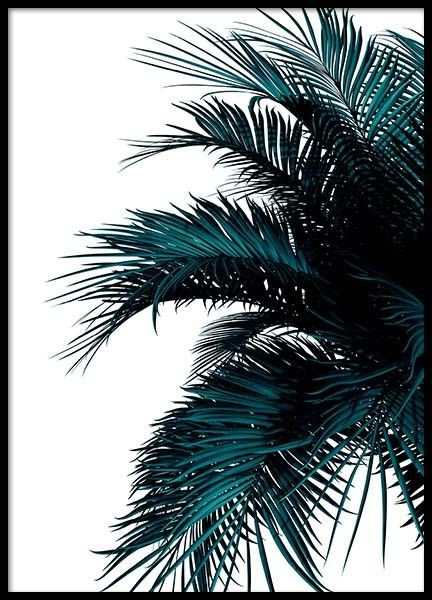 green palm tree poster in the group prints floral at desenio ab 2907
