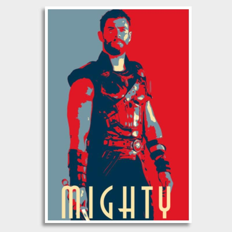 My Poster Wall Power Thor Mighty Giant Poster Artist Linearman Postergully