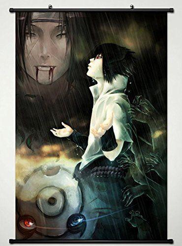Naruto Poster Baik Wall Scroll Poster Fabric Painting for Anime Naruto Uchiha Sasuke