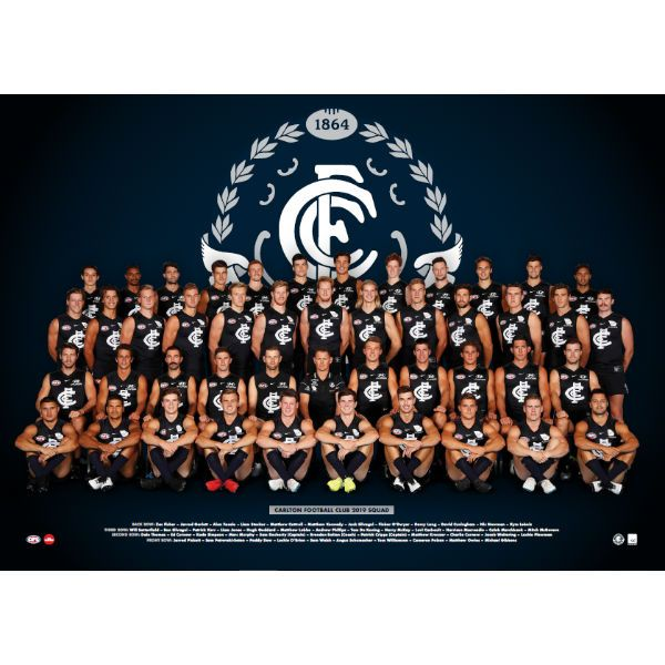 Nike Poster Meletup Carlton 2019 Team Poster Carlton Football Club