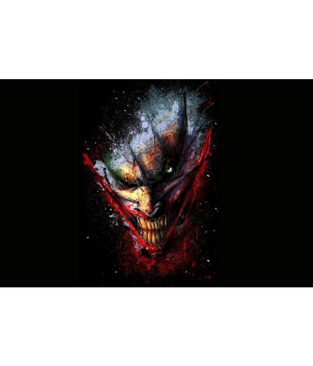 printinggali devil joker art poster buy printinggali devil joker art poster at best price in india on snapdeal